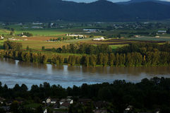Valley and Fraser River View. From St. Marys in Mission, BC Royalty Free Stock Image