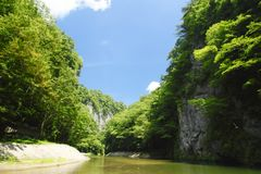 Valley  genbi in Iwate,Touhoku Stock Photography