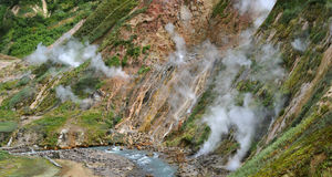 Valley of Geysers Royalty Free Stock Images