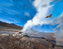 Valley of Geysers in the Atacama Desert Royalty Free Stock Images
