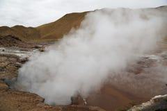 Valley of Geysers of El Tatio field located in Atacama Desert Royalty Free Stock Photo