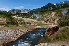 Valley of Geysers. Kamchatka Royalty Free Stock Photography