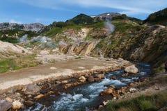 Valley of Geysers. Kamchatka Stock Photos
