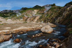 Valley of Geysers. Kamchatka Royalty Free Stock Image