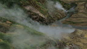 Valley of Geysers in Kamchatka Peninsula stock video footage
