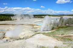 Valley of Geysers in Yellowstone National Park, Wyoming, USA Stock Image