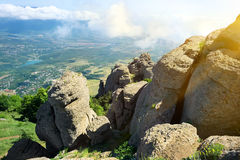 Valley of ghosts in Crimea Royalty Free Stock Photo