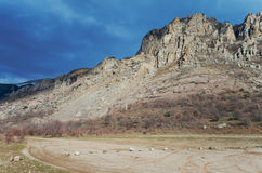 Valley of Ghosts in Crimean Mountains Royalty Free Stock Photography