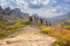 Valley of ghosts. Demerdzhi Royalty Free Stock Image