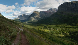 Valley, Glacier NP. Glacier-carved valley on the east side of Glacier National Park Stock Photos