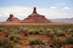 Valley of the Gods. Rock formations in the Valley of the Gods, southeastern Utah Stock Images