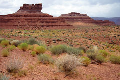 Valley of the Gods. A desert landscape in Utah's Valley of the Gods Royalty Free Stock Photography