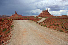 Valley of the Gods Auto Tour. Auto Touring in Utah's Valley of the Gods Stock Photos