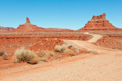Valley of the Gods landscape Royalty Free Stock Image