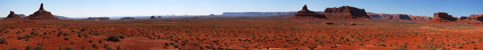 Valley of the Gods panorama Royalty Free Stock Photo