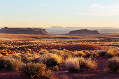 Valley of the Gods. Rock formation with Monument Valley at sunrise royalty free stock image