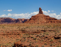 Valley of the Gods Setting Hen Butte Royalty Free Stock Photo