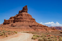 Valley of the Gods Setting Hen Butte Stock Image