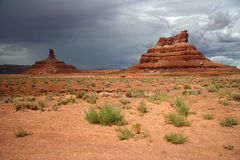 Valley of the Gods in Southeastern Utah. Geological Formations in Utah's Valley of the Gods Royalty Free Stock Photography