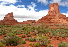 Valley of the gods, southeastern Utah, United States. Majestic mittens and buttes of Valley of the Gods, Southeastern Utah near Mexican Hat, united states royalty free stock photography