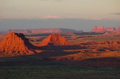 Valley of the Gods  at sunrise Royalty Free Stock Photos