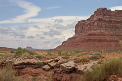 Valley of Gods, Utah. A dried out creek at the valley of Gods Royalty Free Stock Photo