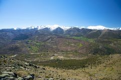 Valley at gredos mountains Stock Photography