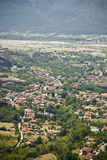 Valley in Greece. Small city in Greek valley stock photography