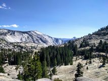 Valley of the half dome mountain Royalty Free Stock Photography