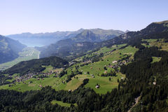 Haslital. Valley Haslital in Bernese Oberland in Switzerland stock photo