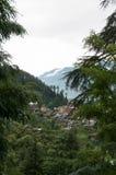 Valley between high mountains Stock Photos