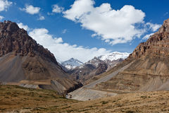 Valley in Himalayas Stock Image