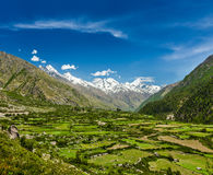 Valley in Himalayas Stock Photo