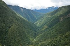 Valley In Yungas Region, Bolivia Stock Photo