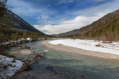 Valley of the Isar River, Bavaria, German Alps Stock Photos
