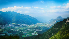 Valley in the Italian Alps by Summer Royalty Free Stock Photography