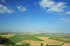 Valley of Jezreel from Carmel. Valley of Jezreel in Israel from Mt. Carmel, scene of Armageddon Royalty Free Stock Images