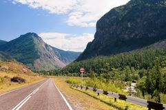 Valley of Katun river in Altai mountains, Russia Royalty Free Stock Photography