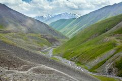 Valley of Kegety river in Tien Shan mountains Stock Photography