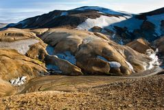Valley Kerlingarfjoll Iceland Royalty Free Stock Images