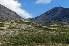Valley in Khibiny Mountains, Kola Peninsula Royalty Free Stock Photography