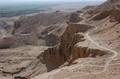 Valley of the Kings. The Valley of the Kings on the western bank of the River Nile near Luxor (Thebes), Egypt, were the tombs of the New Kingdom's stock photos