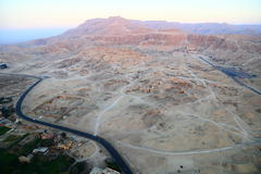 Valley of the Kings. An aerial view of the valley of the king. The Valley of the Kings is a valley in Egypt where, for a period of nearly 500 years from the 16th Royalty Free Stock Images