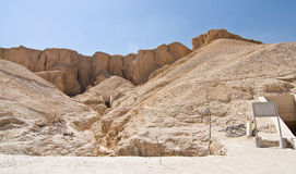 The Valley of the Kings in Egypt. The Valley of the Kings in Luxor, Egypt Royalty Free Stock Images
