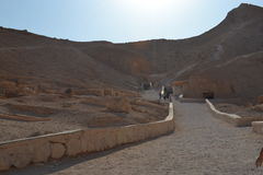 The Valley of the Kings in Egypt. The ancient civilizations. World attractions. The Ancient Egyptian Architecture Stock Photos