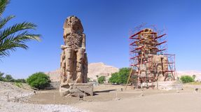 Valley of the Kings. Statue of the Pharaohs. Luxor Stock Images