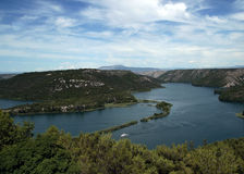 Valley of Krka river Royalty Free Stock Images