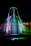 The valley of lake Abrau.Fountain of bottles. Lighted fountain in the valley of lake Abrau Royalty Free Stock Photos