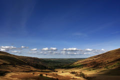 Valley landscape 1. Late afternoon springtime valley landscape in the Brecon Beacons Stock Photo