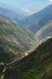 Valley landscape. Beautiful Valley landscape in summer, China Royalty Free Stock Photos